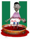 Cartoon: Bloodshed in Nigeria ! (small) by Shahid Atiq tagged nigerian,bloodshed