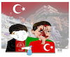 Cartoon: Izmir ! Wounded AFG ... (small) by Shahid Atiq tagged izmir