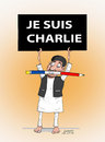 Cartoon: JE SUIS CHARLIE (small) by Shahid Atiq tagged 0196