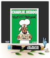 Cartoon: Justice for Charlie Abdo ! (small) by Shahid Atiq tagged france