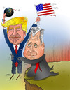 Cartoon: Let Trump Do the Rest! (small) by Shahid Atiq tagged afghanistan,kabul,syria,iran,switzerland,schweiz,usa,france,football,safi,cartooneu,uk,safe,atiq,fara,shahid,nice