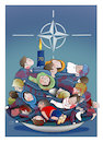 Cartoon: The 70th Anniversary of NATO ! (small) by Shahid Atiq tagged afghanistan