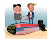 Cartoon: The first US president to cross (small) by Shahid Atiq tagged north,korea