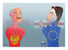 Cartoon: Two opposing  supporters ! (small) by Shahid Atiq tagged belarus