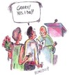 Cartoon: Marriage (small) by efbee1000 tagged marriage,love,relationship,gun,wedding,husband,wife,priest