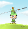 Cartoon: Golden apples (small) by llobet tagged wilhelm,william,guillermo,tell,apple