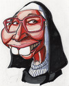 Cartoon: Sister Wendy Art Critic (small) by Curbis_humor tagged caricature,tv