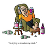 Cartoon: Broaden Mind (small) by Alexei Talimonov tagged broaden mind wine alcohol