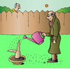 Cartoon: Gardening (small) by Alexei Talimonov tagged garden,gardening