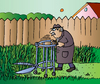 Cartoon: Gardening (small) by Alexei Talimonov tagged old,garten,grün,wohnen,gartenarbeit