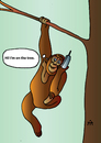 Cartoon: I am on the tree (small) by Alexei Talimonov tagged monkey