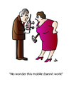 Cartoon: Mobile (small) by Alexei Talimonov tagged mobile