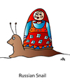 Cartoon: Russian Snail (small) by Alexei Talimonov tagged russian,snail