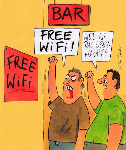 Cartoon: wifi (medium) by Peter Thulke tagged wifi,wifi
