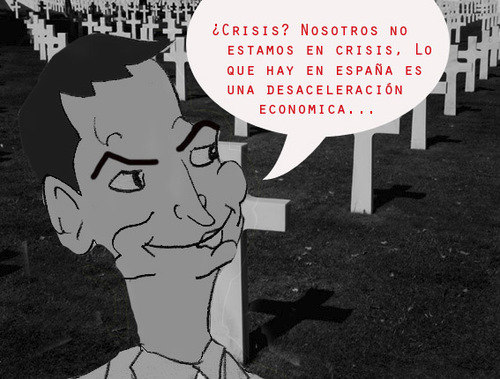 Cartoon: Mentiras...Arriesgadas... (medium) by apestososa tagged zapatero,crisis