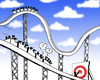 Cartoon: target (small) by cartoonage tagged cartoon,rollercoaster,funny