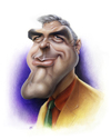 Cartoon: George Clooney (small) by achille tagged george clooney