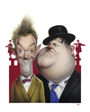 Cartoon: Laurel and Hardy (small) by achille tagged laurel and hardy