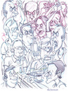 Cartoon: Angry Crowd (small) by Cartoons and Illustrations by Jim McDermott tagged angry crowd sketch