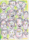 Cartoon: Cartoon Faces (small) by Cartoons and Illustrations by Jim McDermott tagged faces sketchbook
