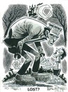 Cartoon: Frankensteins Monster (small) by Cartoons and Illustrations by Jim McDermott tagged frankenstein,monster,scary