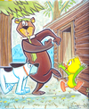 Cartoon: Yogi Bear (small) by Cartoons and Illustrations by Jim McDermott tagged yogibear tv animation
