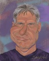 Cartoon: Harrison Ford (small) by sanjuan tagged film,theater