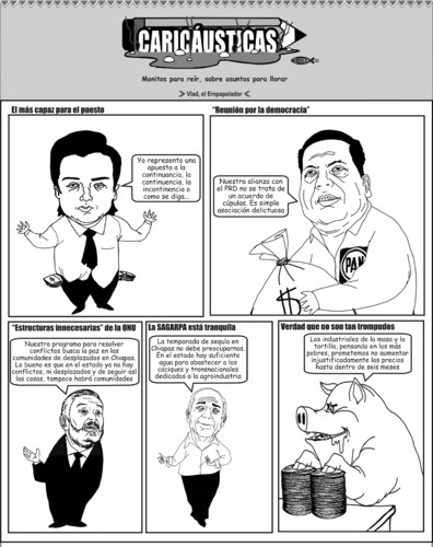 Cartoon: Caricausticas 11-04-2010 (medium) by Empapelador tagged chiapas,mexico
