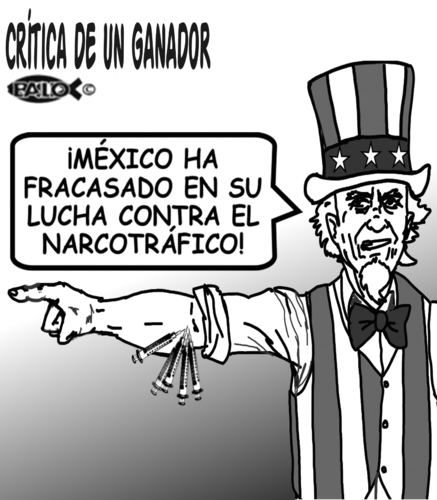 Cartoon: Critica (medium) by Empapelador tagged mexico,usa,drogas
