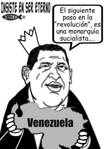 Cartoon: Insiste en ser eterno (medium) by Empapelador tagged venezuela,latinoamerica