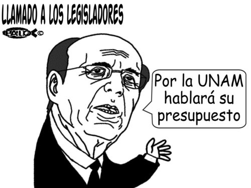 Cartoon: Lamado a los legisladores (medium) by Empapelador tagged unam