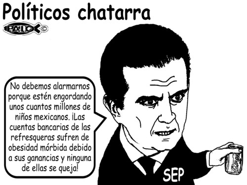 Cartoon: Politicos chatarra (medium) by Empapelador tagged obesidad,mexico