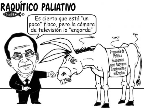 Cartoon: Raquitico paliativo (medium) by Empapelador tagged mexico,economia