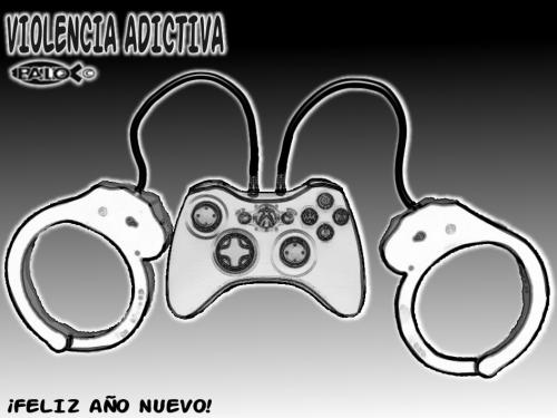Cartoon: Violencia adictiva (medium) by Empapelador tagged navidad