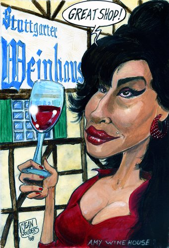 Cartoon: Ami Winehouse (medium) by jean gouders cartoons tagged ami,wine,house,jean,gouders