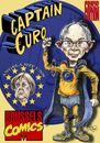 Cartoon: captain Euro (small) by jean gouders cartoons tagged euro,crisis,merkel,eu,leading,role,germany,deutschland
