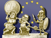 Cartoon: Euromythos (small) by jean gouders cartoons tagged die,zeit,cartoon,germany,leading,role,euro,crisis