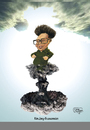 Cartoon: kims ascension kim himmelfahrt (small) by jean gouders cartoons tagged kim,jung,ill,korea,death,hysteria