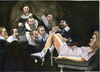Cartoon: The gynecological lesson (small) by jean gouders cartoons tagged rembrandt,art,parody,jean,gouders