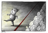 Cartoon: Red line (small) by hanifbahari tagged democracy,opposition