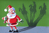 Cartoon: Merry Christmas (small) by lloyy tagged santa,claus,merry,christmas