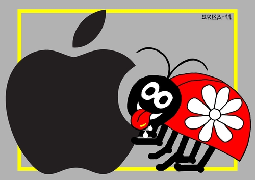 Cartoon: LadybugSaadet (medium) by srba tagged applemac,sdy,ladybug