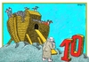 Cartoon: Digital Age (small) by srba tagged noe,ark,digital,numbers,animals,bible