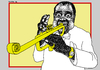 Cartoon: Louis Armstrong - Satchmo (small) by srba tagged satchmo,jazz,music,art,entertainment