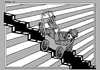 Cartoon: Moving pictures (small) by srba tagged film,chaplin,art,battleship,potemkin,sergei,eisenstein