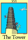 Cartoon: The Tower (small) by srba tagged tarot cards babylon tower eleven nine