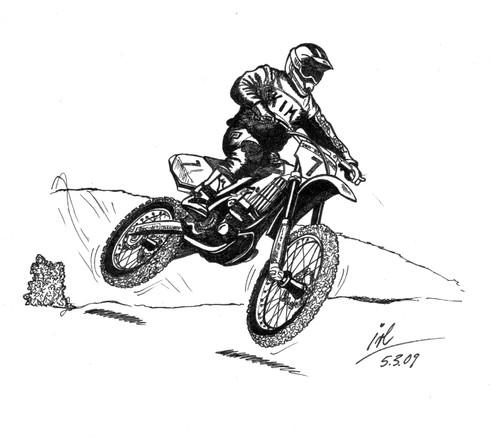 dibujo motocross