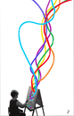 Cartoon: colores (small) by ANTRUEJO tagged colores,colors,pain,paintingpainter,pintor