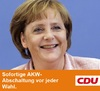 Cartoon: CDU-Wahlplakat (small) by Paramantus tagged cdu,wahlen,wahlplakat,merkel,atom,moratorium,akw