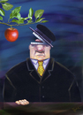 Cartoon: appetite (small) by trayko tagged hunger food apple fruit fruits eating